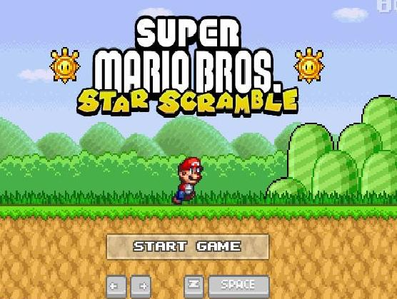 play the game super mario bros star scramble free online